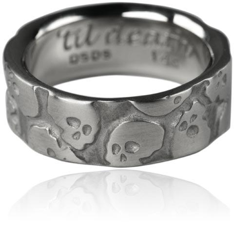 'Til Death Multi Skull Ring. White Gold